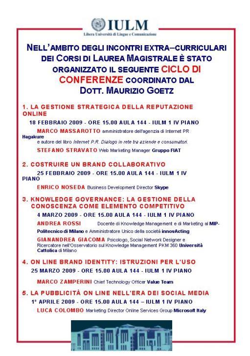 Locandina 4 Marzo IULM